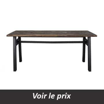 Table de salle a manger en bois brut