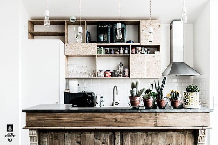 ampoule a filament dans la cuisine