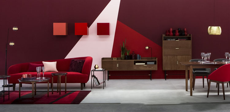 la couleur bordeaux refait son apparition parmis les tendances en d co. Black Bedroom Furniture Sets. Home Design Ideas