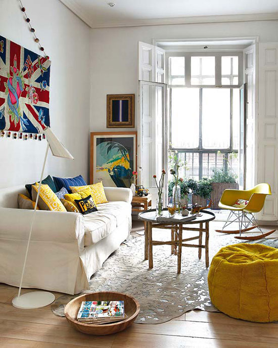 déco colorée d'un appartement à Madrid