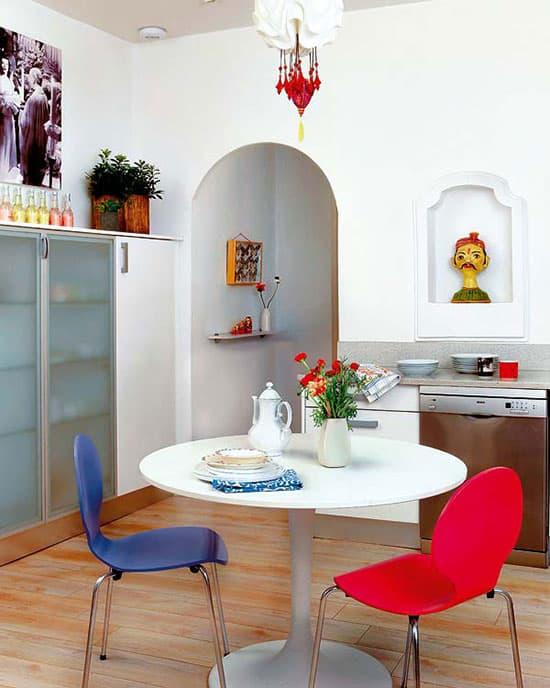 chaise de cuisine colorée