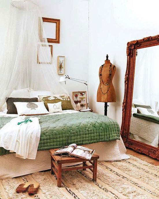 chambre cocooning et colorée