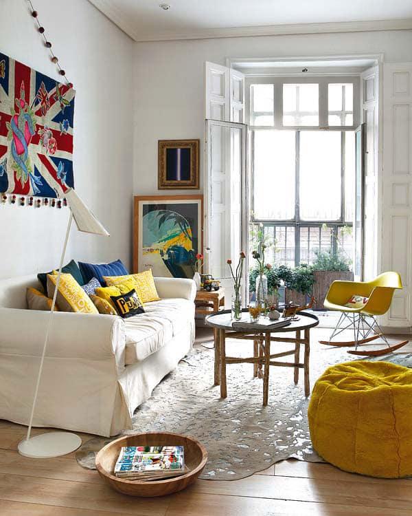 D co color e d 39 un appartement madrid for Retro home accessories funky