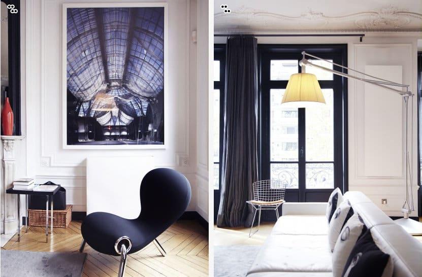 Appartement parisien de la famille duval for Interieur chic parisien