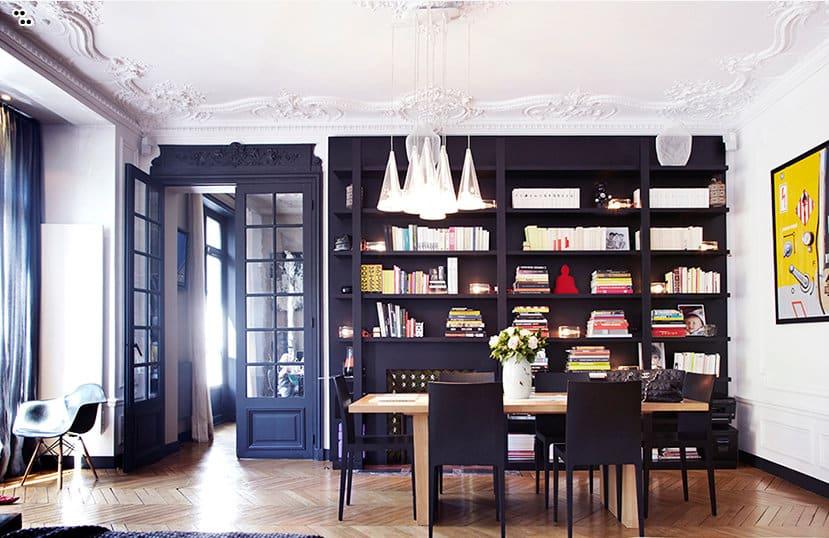 appartement parisien de la famille duval. Black Bedroom Furniture Sets. Home Design Ideas