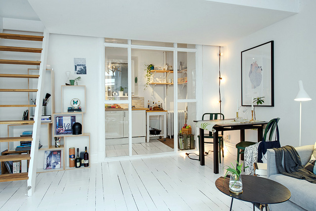 parquet blanc 12 int rieurs inspirants pour une d co 100 scandinave. Black Bedroom Furniture Sets. Home Design Ideas