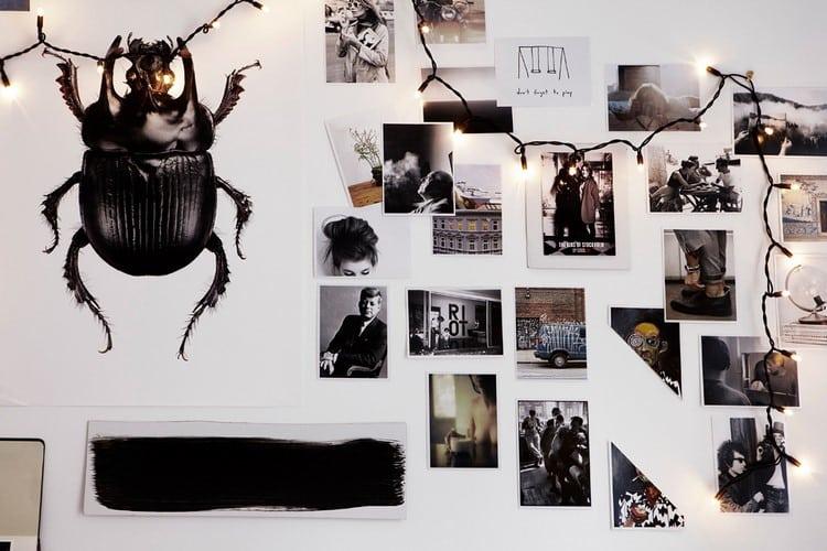 deco chambre en noir et blanc