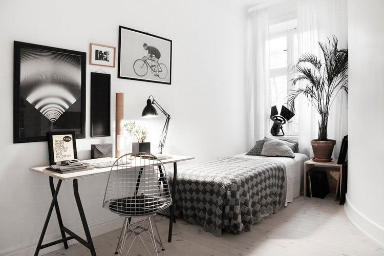 deco de chambre noir et blanc