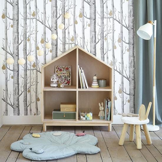 Bibliothèque enfant maison