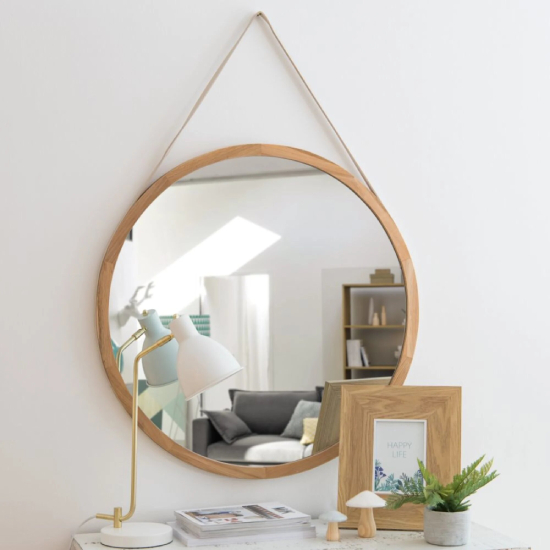 grand miroir mural à suspendre