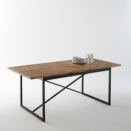 Table avec plateau bois et pied métal atelier
