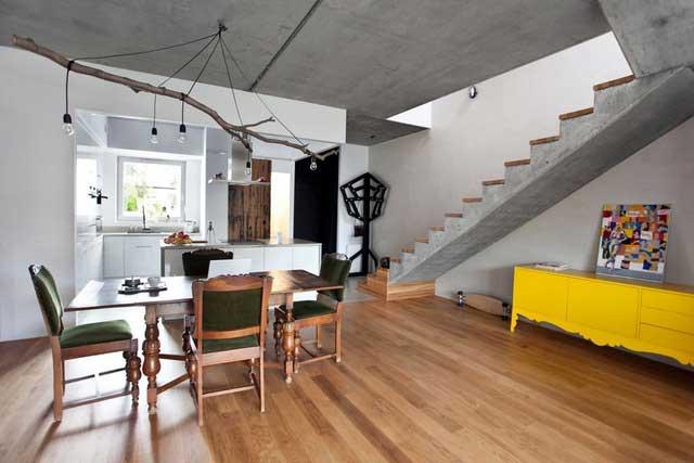 une maison bois b ton en pologne. Black Bedroom Furniture Sets. Home Design Ideas