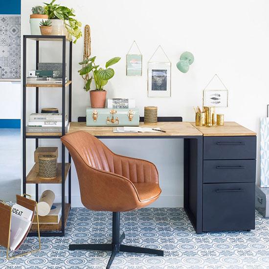 Bureau en bois bibliothèque
