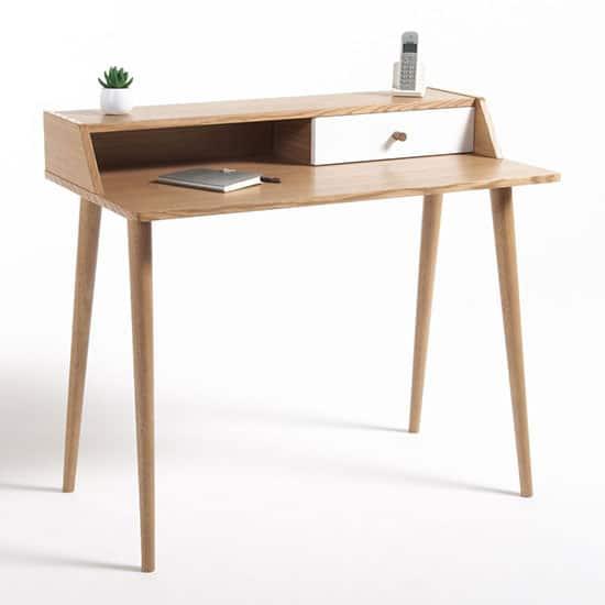 bureau en bois retro