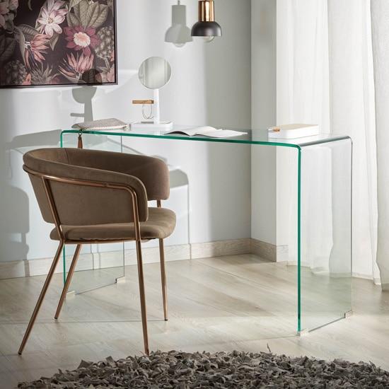 Bureau original en verre