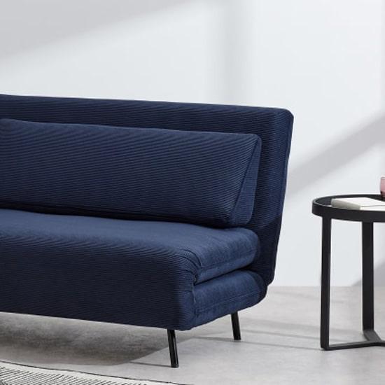 Canapé convertible en tissus velours côtelé