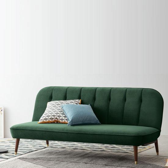 Canapé lit scandinave en velours