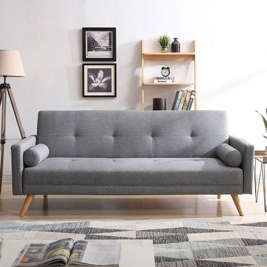 Canapé scandinave convertible gris
