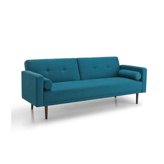 Canapé lit scandinave bleu
