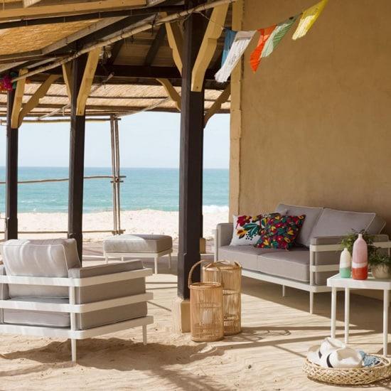 Canapé en aluminium pour le salon d'été