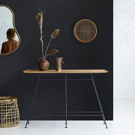 Console industrielle style meuble atelier