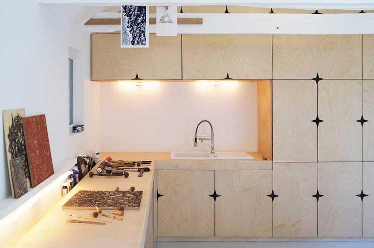 meuble bois atelier artiste