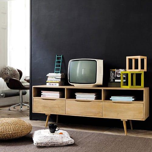 Meuble tv bois scandinave
