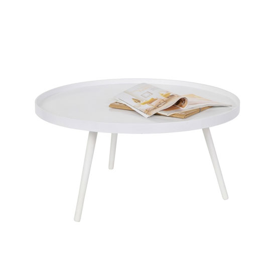 Mini table basse ronde blanche