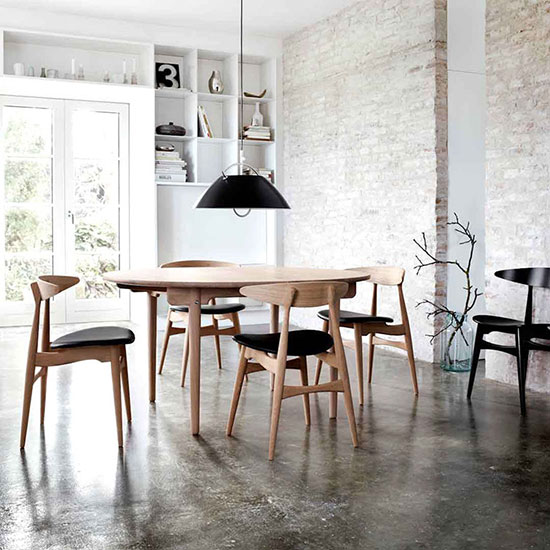 Table scandinave ronde d'occasion