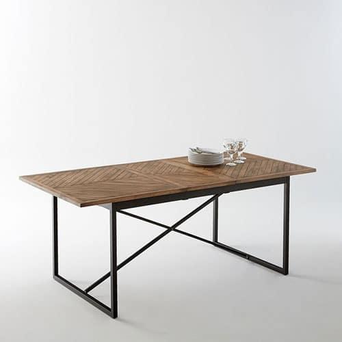 6fc612d91b6 Top 6 des tables de salle à manger à allonges au style industriel. Table  Nottingham