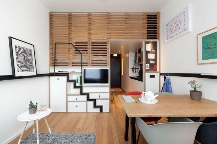 Optimiser l\'aménagement d\'un studio avec un lit mezzanine