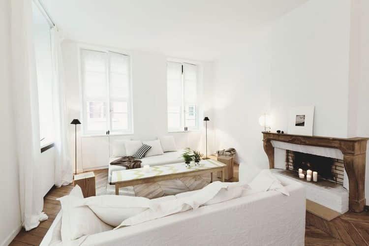 Appartement f par jordane arrivetz for Sejour design blanc