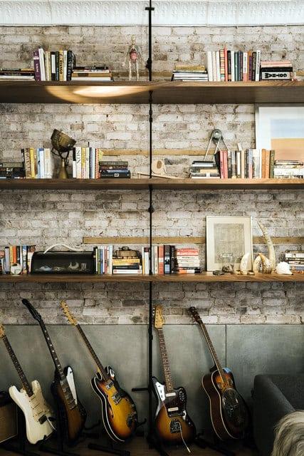 salon style industriel bois