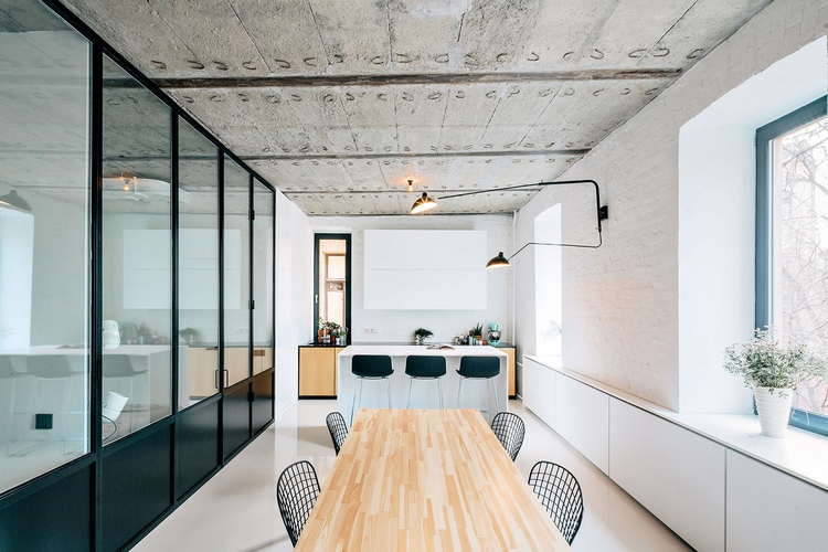 loft au style industriel moderne