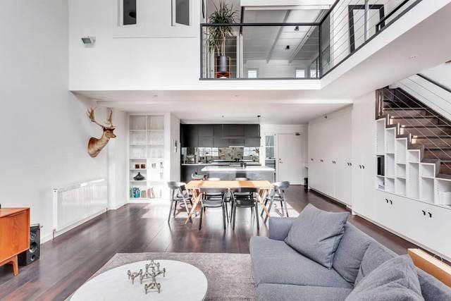 Spacieux loft gris et bois à Melbourne (3)