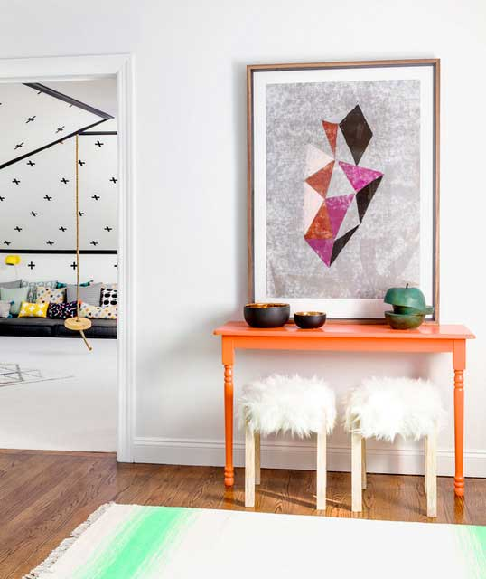 papier peint ananas et pastèque déco intérieure (6)