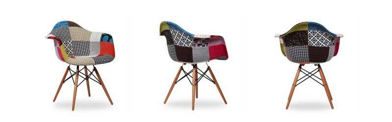 Chaise DAW Patchwork de Charles & Ray dans Superestudio.fr