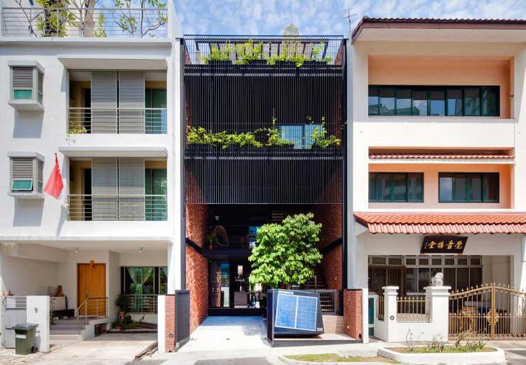 Maison durable Singapour