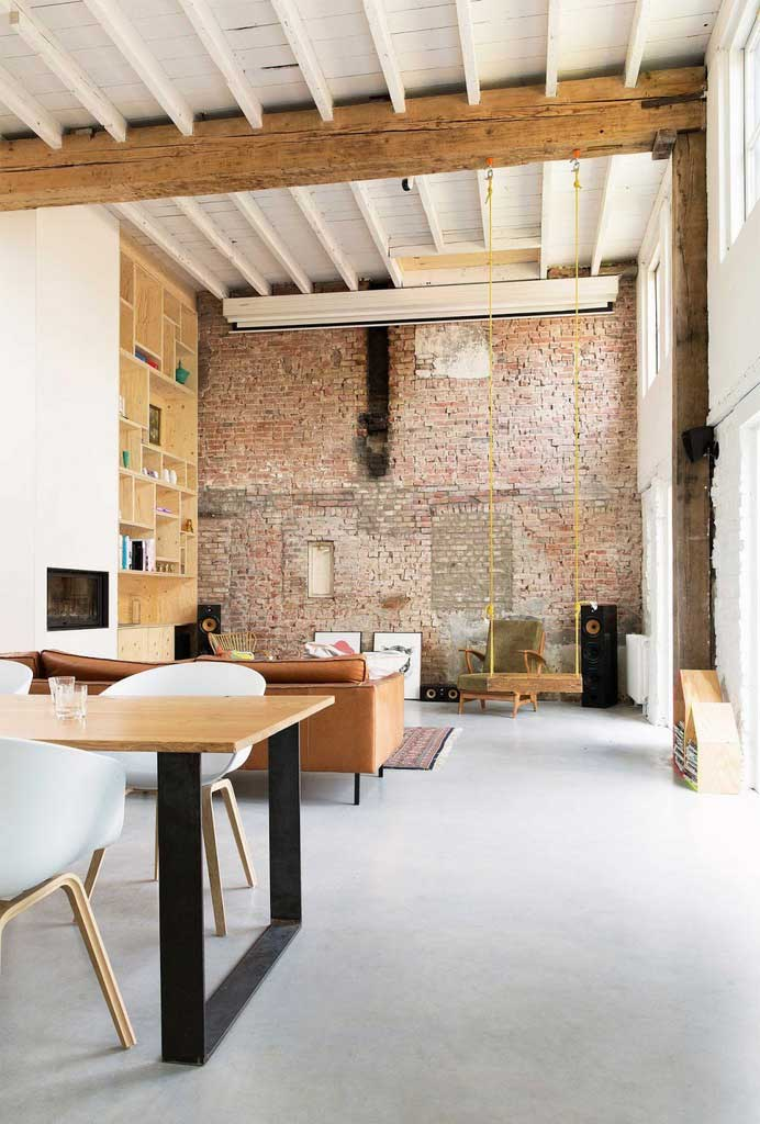 salon bois industriel