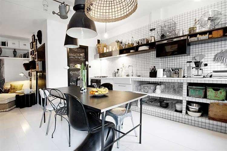 deco cuisine noir et blanc