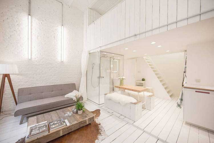 Un appartement enti rement blanc for Centre meuble escompte