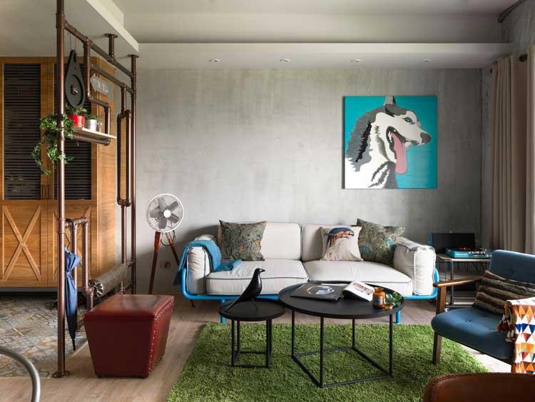 meuble salon style industriel