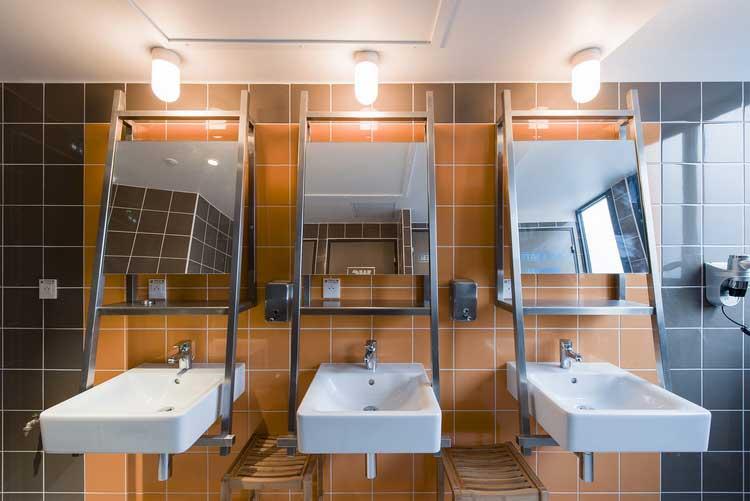 salle de bains auberge de jeunesse