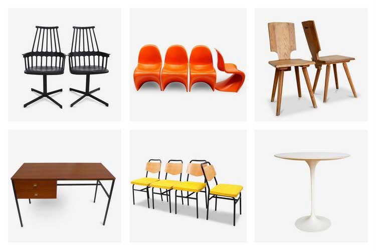 o trouver du mobilier design d 39 occasion. Black Bedroom Furniture Sets. Home Design Ideas