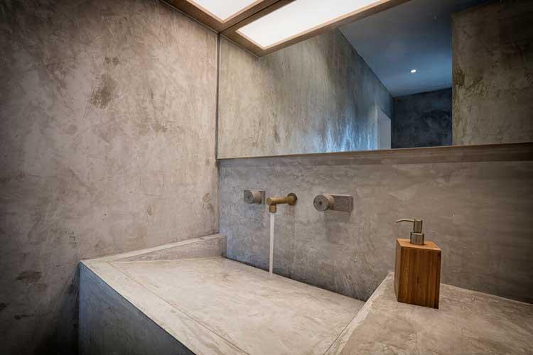 evier salle de bains en beton