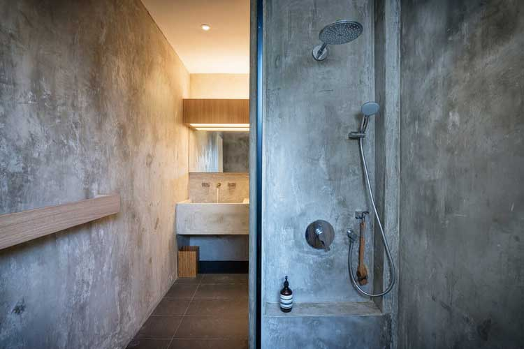 douche en beton