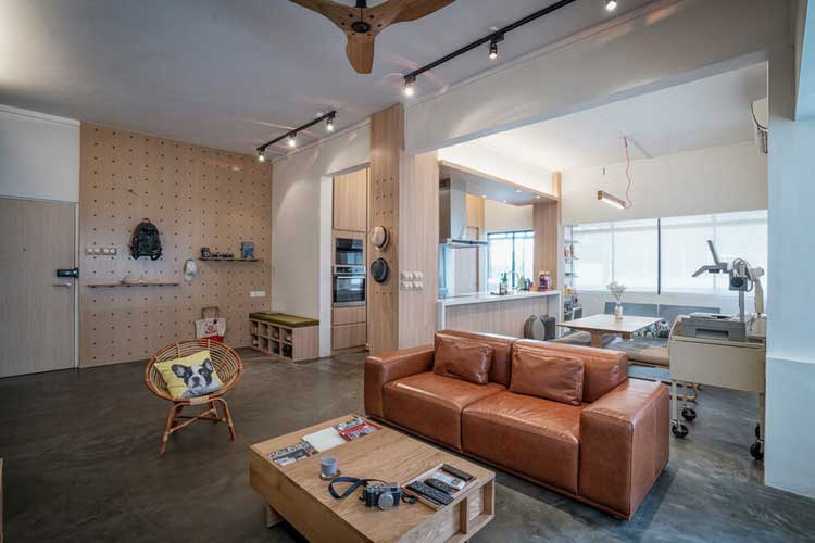 deco interieur bois et beton