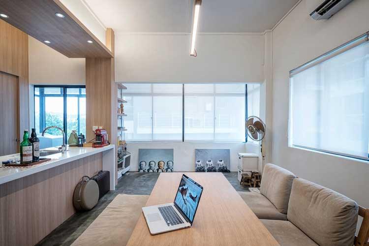 appart singapour studio obllique