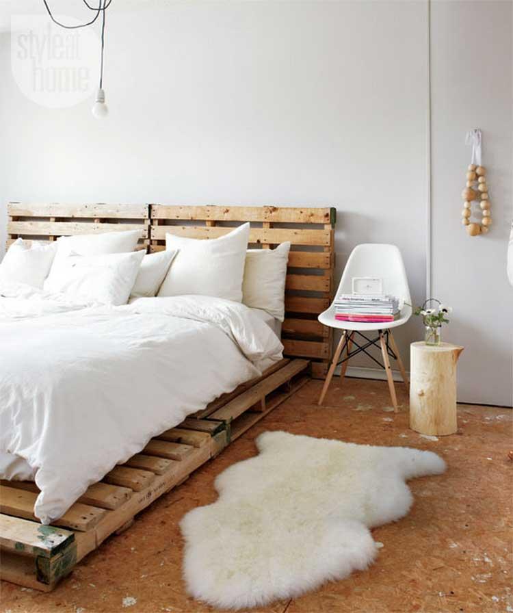 lit avec palette bois