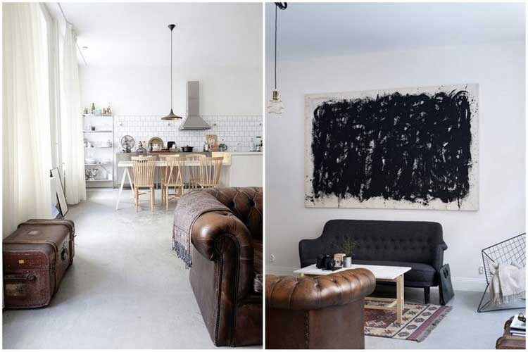 Appartement a la deco masculine